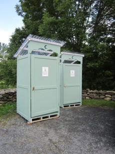 self-composting toilets at Frelighsburg Festiv'Art